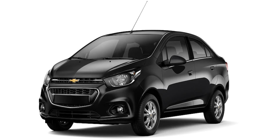Chevrolet Beat Notchback 2020, sedán en color negro