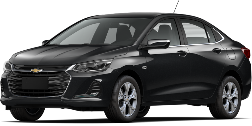 Chevrolet Onix 2021, carro sedán en color negro