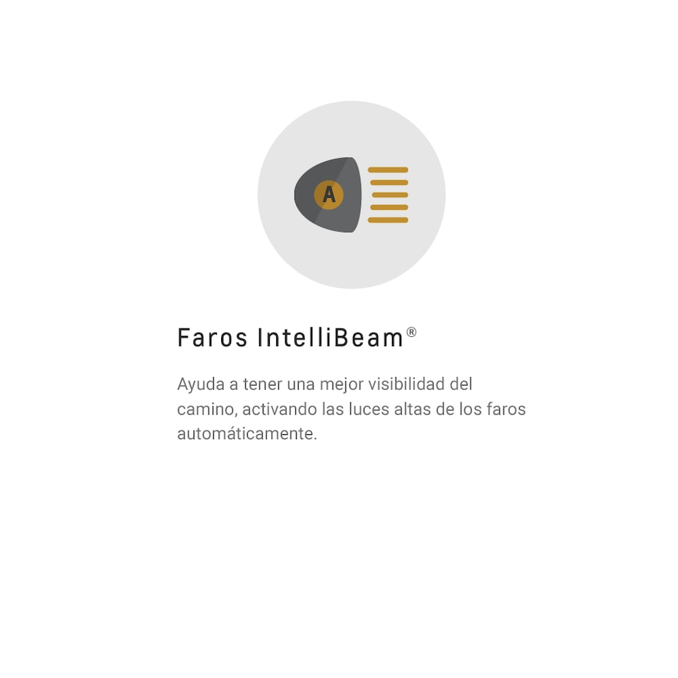 ícono faros Intellibeam